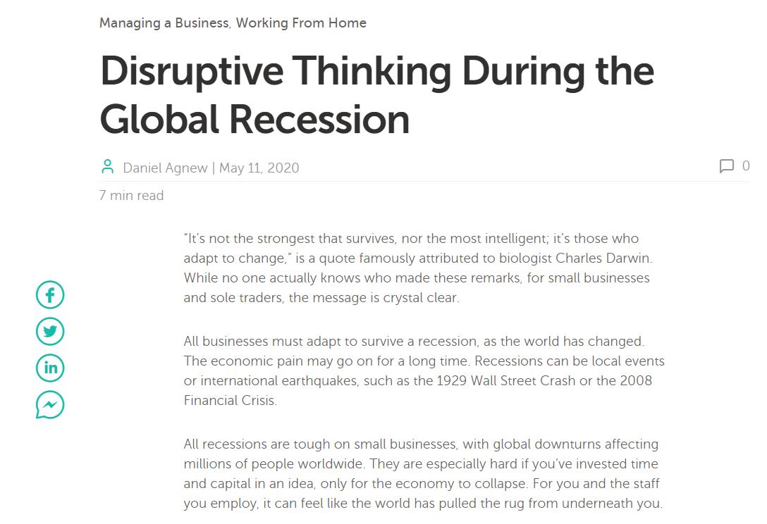 Namecheap blog Disruptive Thinking Daniel Agnew